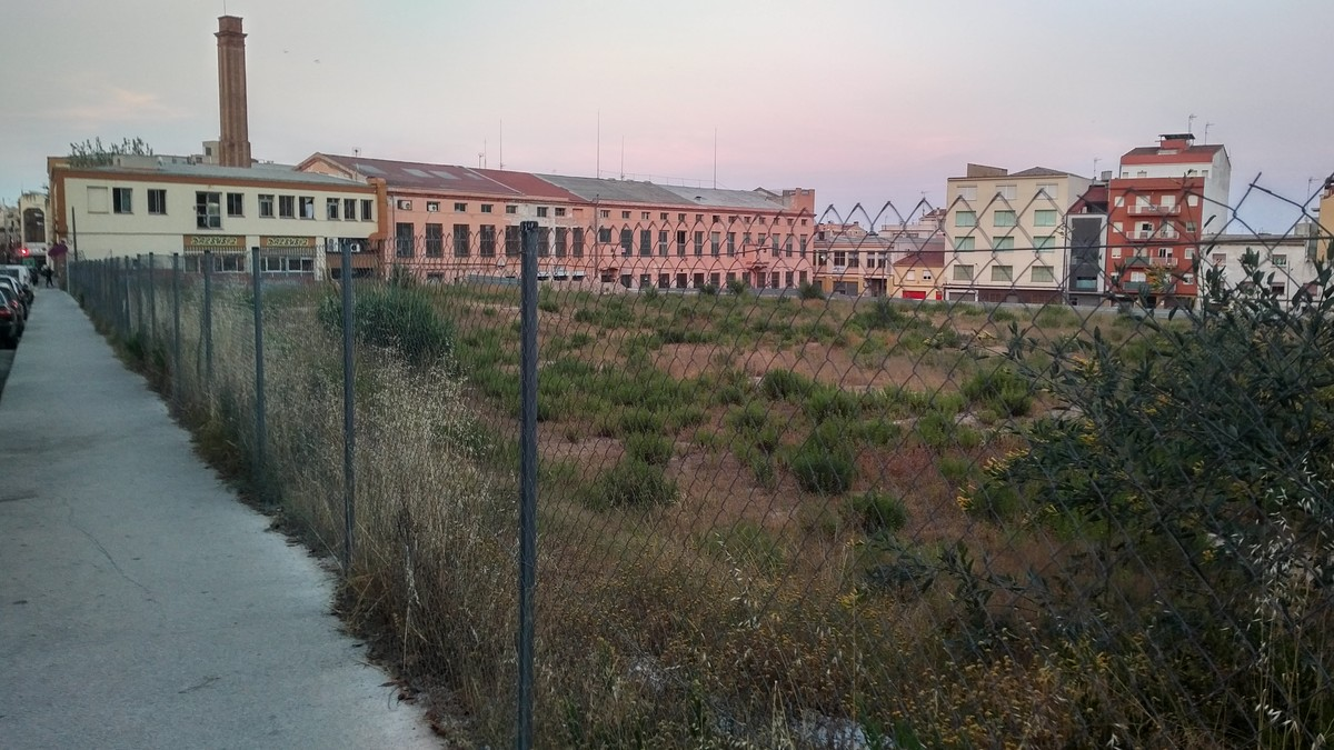 El solar de Can Fàbregas de Mataró, on teòricament shauria dubicarEl Corte Inglés a la capital del Maresme.