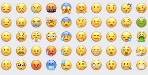 Tabla con emojis.