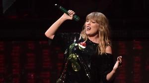 Taylor Swift, en un concierto en el Madison Square Garden de Nueva York