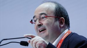 Miquel Iceta, en el congreso del PSC en Barcelona.