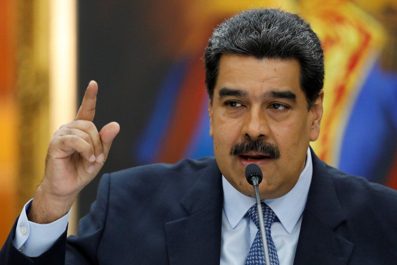 Venezuela s President Nicolas Maduro speaks during a news conference at Miraflores Palace in CaracasVenezuelaREUTERS Manaure Quintero