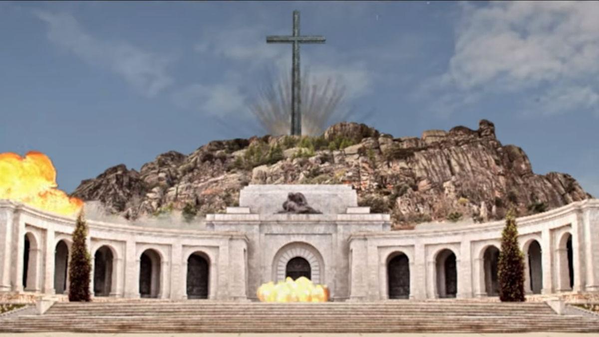 Vídeo de Barnasants, simulando la demolición del Valle de los Caídos.