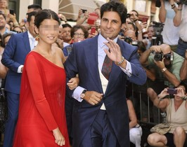 Cayetana actuó como madrinaen la boda de su padre, Fran Rivera, con Lourdes Montes.