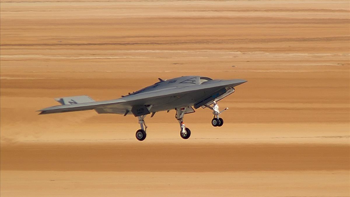Avión no tripuladoX-47Bdel ejército de Estados Unidos