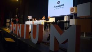 Asamblea general de Òmnium Cultural, celebrada el 10 de marzo en Barcelona.