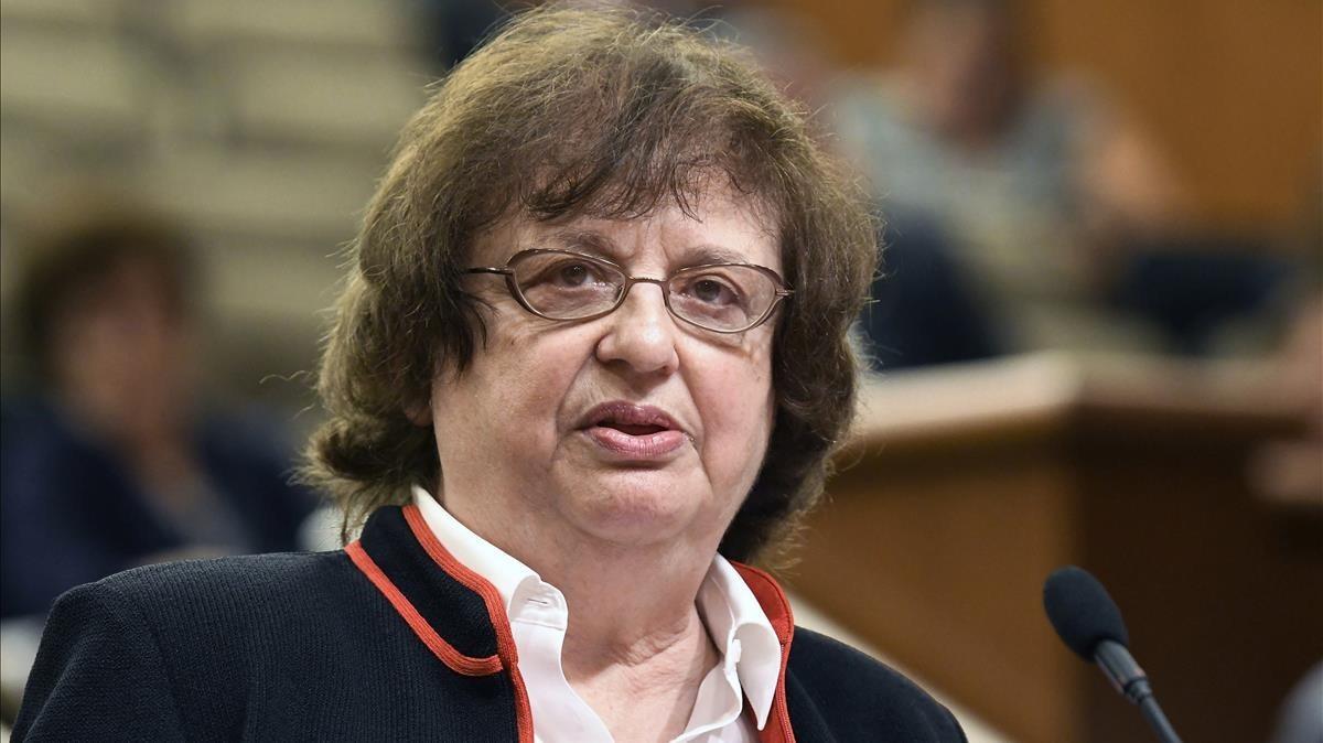 La fiscala general del estado de Nueva York, Barbara Underwood, en una intervención pública en Albany.