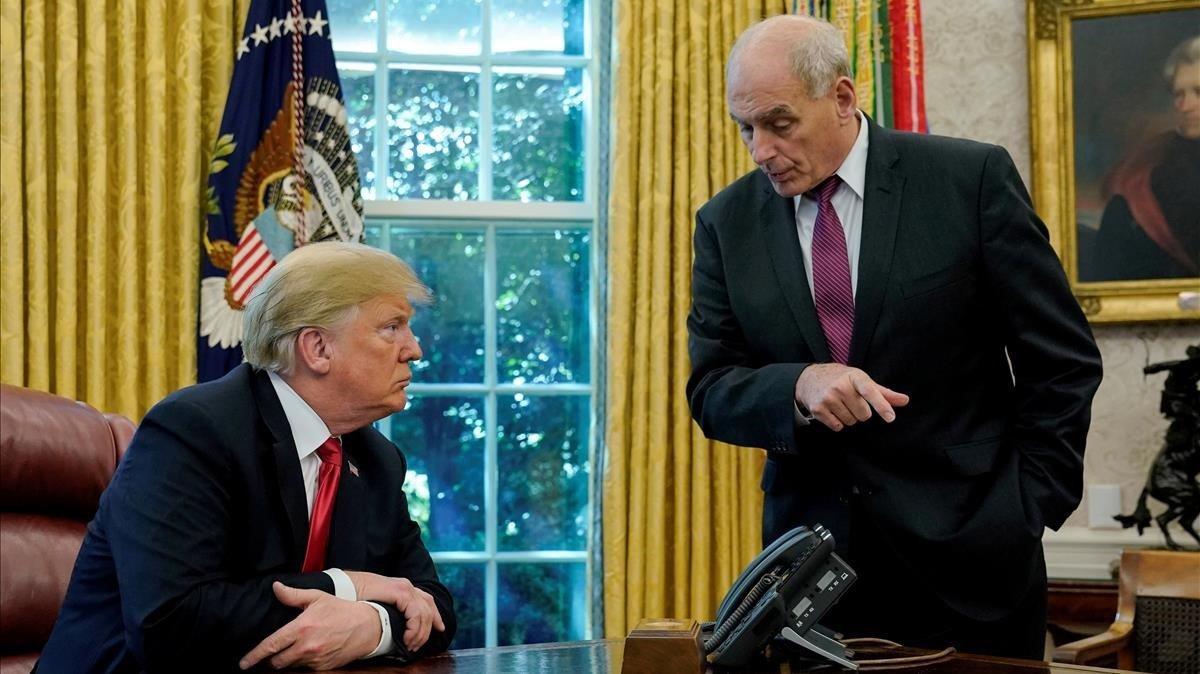 Donald Trump y John Kelly, en el Despacho Oval.