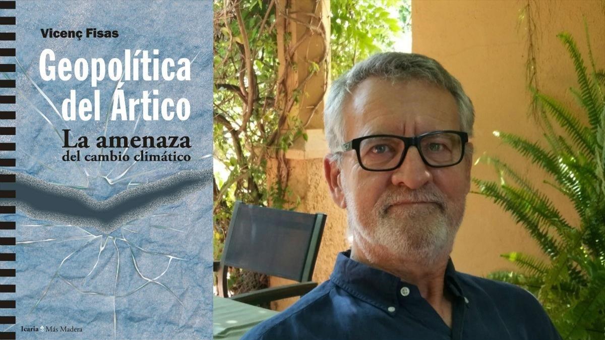 VicençFisas (derecha),autor deGeopolítica del Ártico(Icaria Editorial,2019)