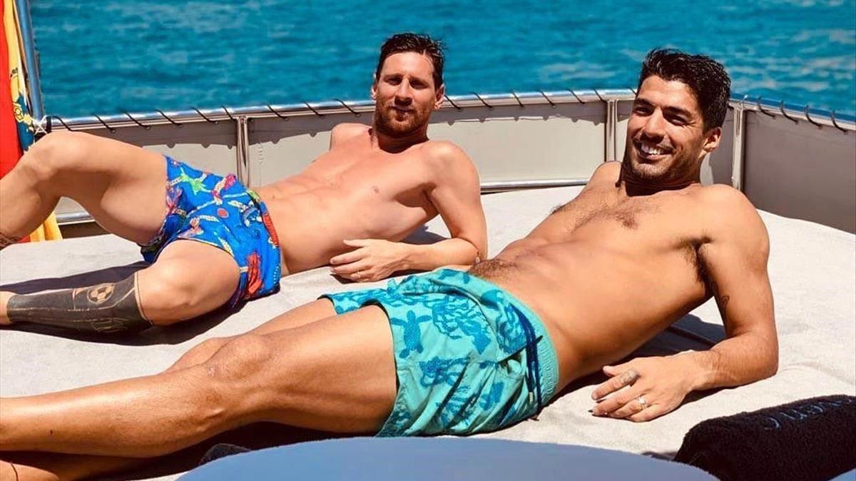 Leo Messi y Luis Suárez, de vacaciones.