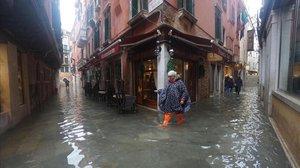 Inundaciones en Venecia.