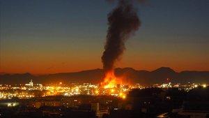 Incendio en la petroquímica de Tarragona, el 14 de enero.