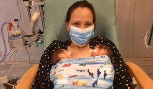 Una dona a l'uci per coronavirus dona a llum dues bessones prematures a Barcelona