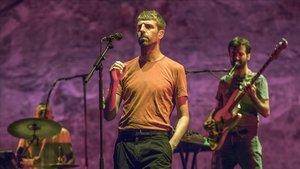 Manel, durante su concierto del Grec, este martes.