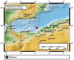 El área del terremoto
