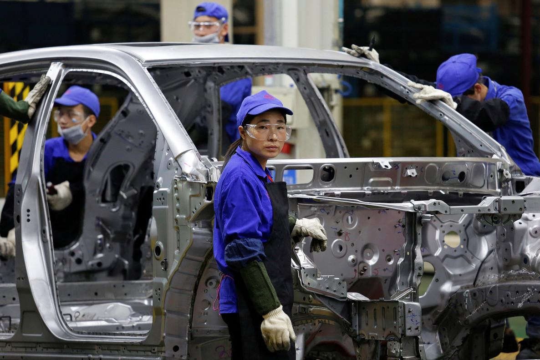 Planta de ensamblaje de la compañía de automóviles china BYD en Shenzhen.