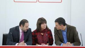 Reunión de la Ejecutiva federal del PSOE.