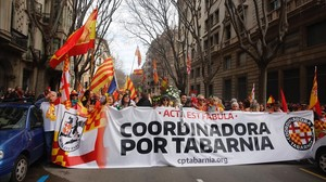 Manifestación de Tabarnia en Barcelona.
