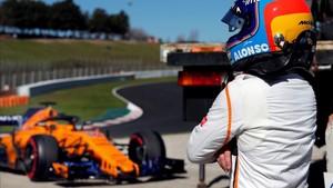 Fernando Alonso, este miércoles en el Circuit