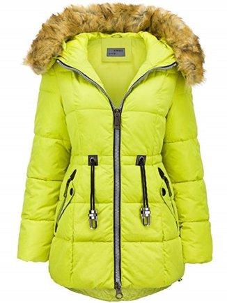Abrigo amarillo fluorescente