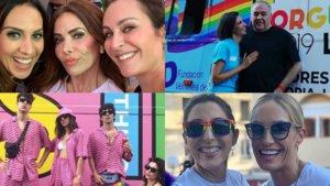 Algunos de los televisivos que disfrutaron del orgullo LGTBIQ+ de Madrid.
