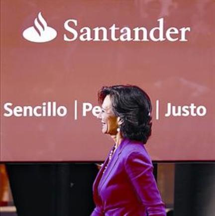 Ana Botín, en una rueda de prensa a principios de junio, en Madrid.