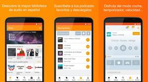 La aplicación de podcasts Ivoox.