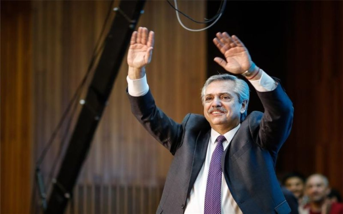 Alberto Fernández, candidato presidencial opositor en Argentina.