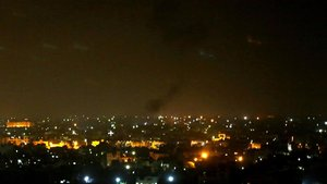 Ataque israelí al pueblo Deir al-Balah, en la franja de Gaza el martes 21 de octubre del 2020.