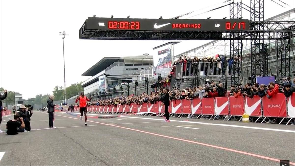 buy online c4ea9 93c85 El atleta keniano Eliud Kipchoge, en Monza, este sábado.