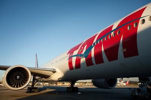 Un avión de TAM.
