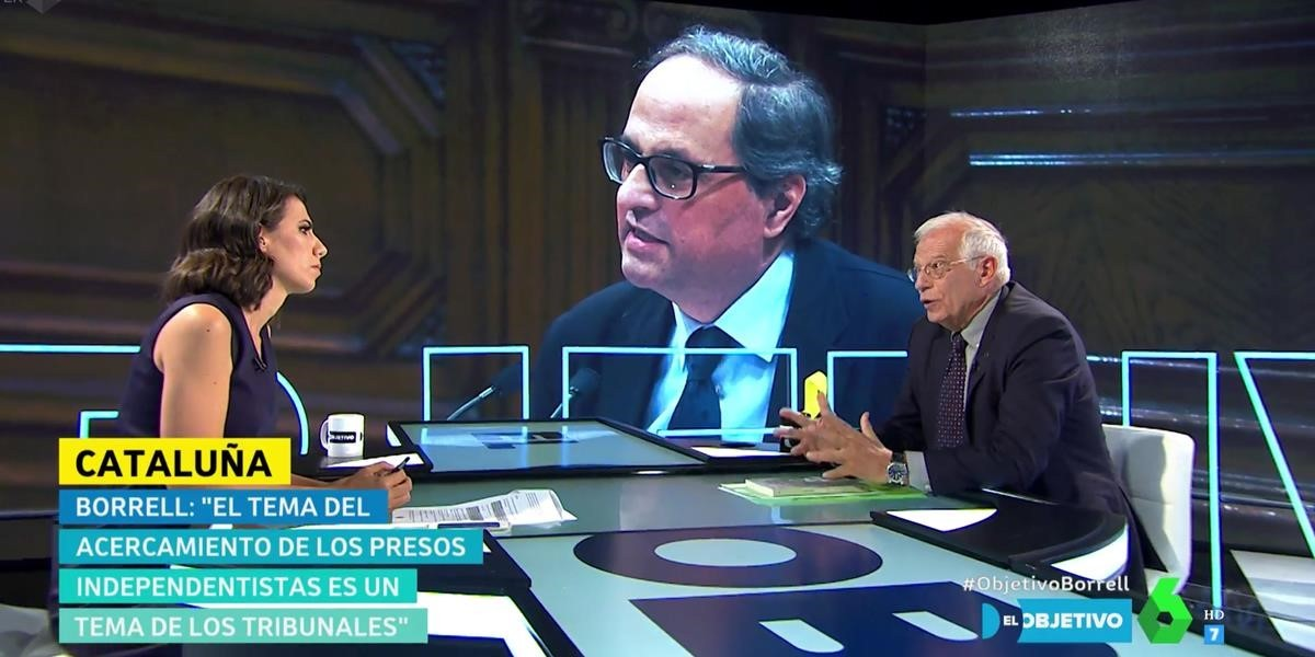 Borrell, en el plató de 'El Objetivo'