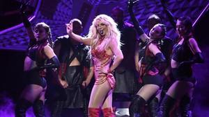 La cantante Britney Spears en un concierto en Las Vegas.