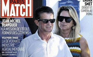Captura de pantalla de la portada de la revista Paris Match.