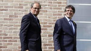 Carles Puigdemont y Quim Torra, el pasado 28 de julio.
