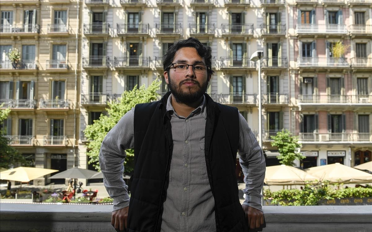 Carlos Juárez, en el Col.legi de Periodistes de Catalunya, en Barcelona.