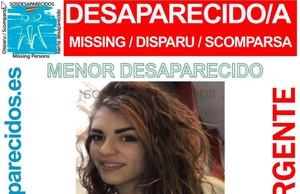 Cartel de SOS Desaparecidos de Érica Lázaro Oliva.