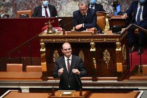 Castex, durante su discurso ante la Asamblea Nacional.