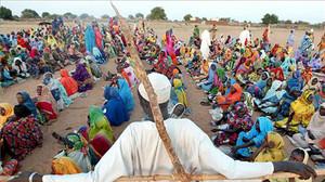 Cooperante francés en un campo de refugiados de Sudán del Sur.