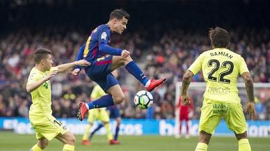 Análisis táctico del Barcelona-Getafe: tres delanteros sin goles