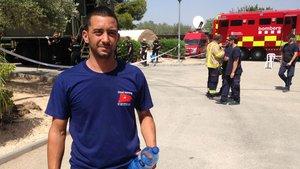 Edgar Palleja Carim, en el centro de control de Bombers en Vinebre