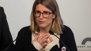 Elsa Artadi, durante una comparecencia en el Parlament.