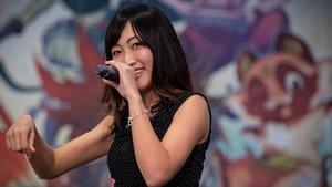 Emika Kamieda, actriz,modelo y ex-idol japonesa, en el Salón del Manga de Barcelona.