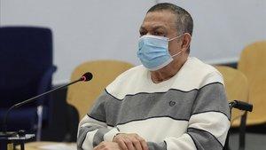 El excoronel salvadoreño Inocente Montano, en el banquillo de los acusados, este lunes en la Audiencia Nacional.