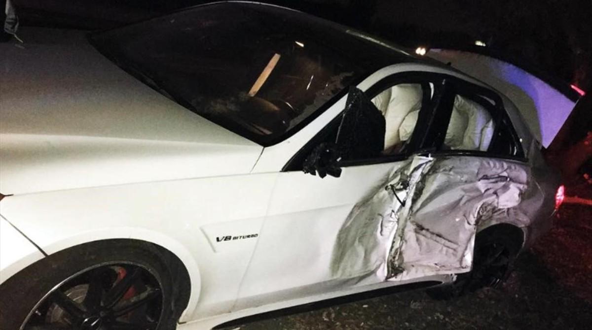 El exnovio de Jenifer López sufre un aparatoso accidente.