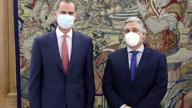 Felip VI reprèn la seva agenda a la Zarzuela després de la marxa de Joan Carles I