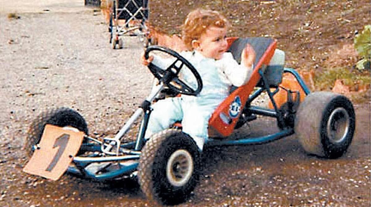 Fernando Alonso, en uno de sus primeros karts.