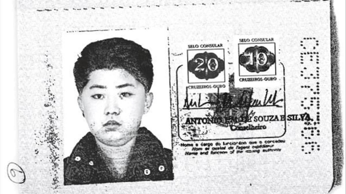 Fotocopia del pasaporte brasileño falso de Kim Jong-un.