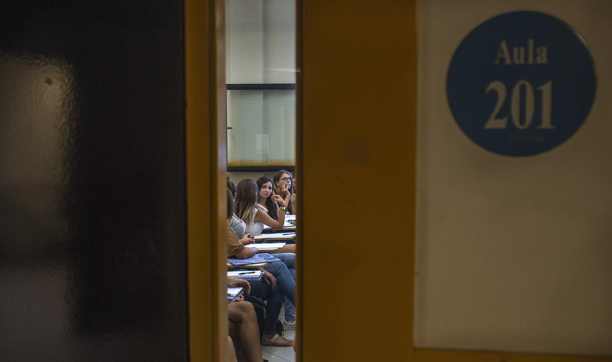 Aula de la facultad de Educación de la Universitat de Barcelona.