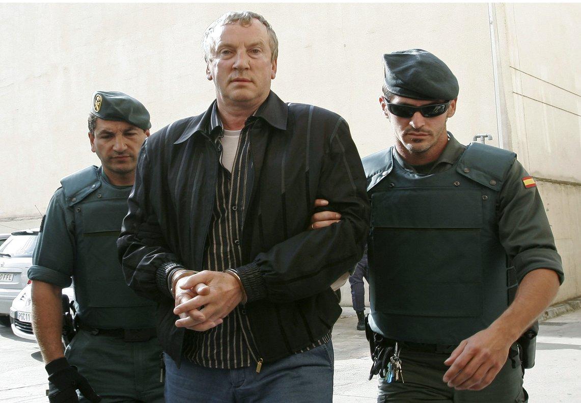 El capo Gennadios Petrov dirigido por la Guardia Civil en el 2008.
