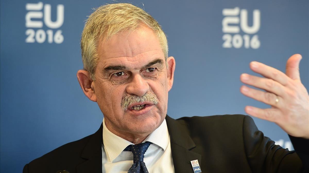 El hasta hoy ministro de Orden Público griego, Nikos Toskas, en una imagen de archivo.